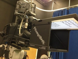 Shoreline Media Productions using PRomptBox Teleprompter