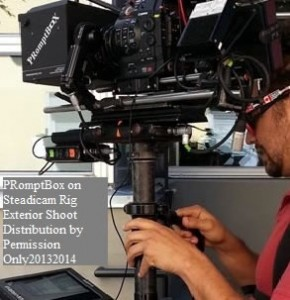 PRomptBox Teleprompter on a Steadicam