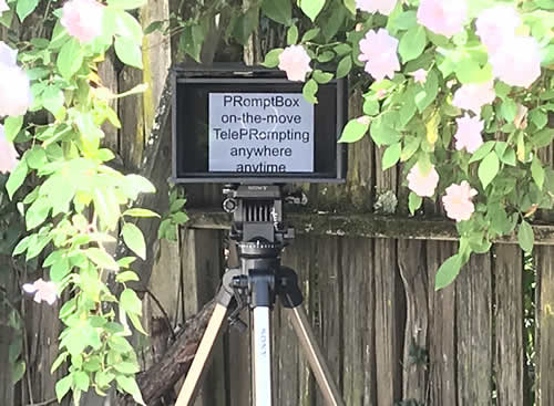 Promptbox Portable Teleprompter